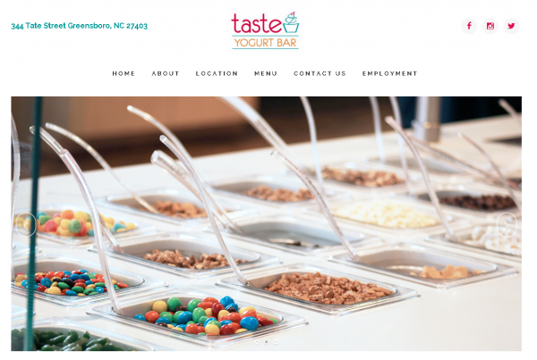 taste yogurt bar