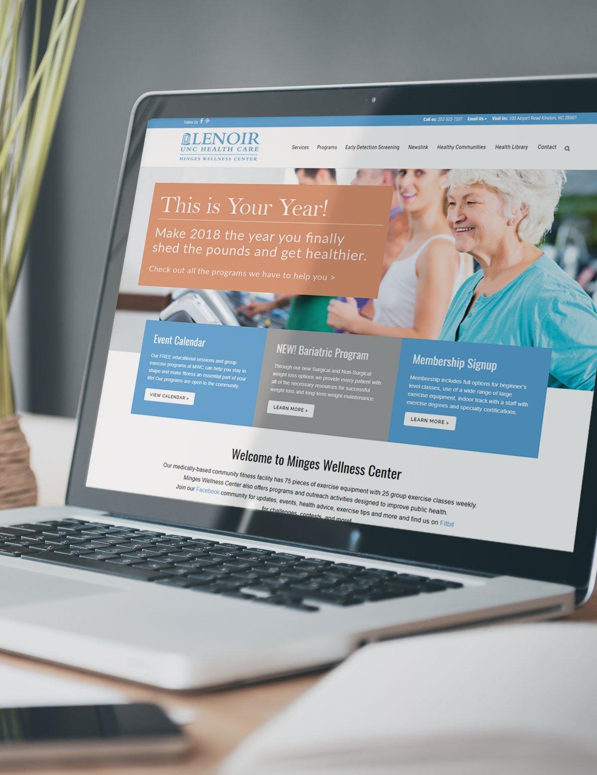 Lenoir Wellness Center Website Design
