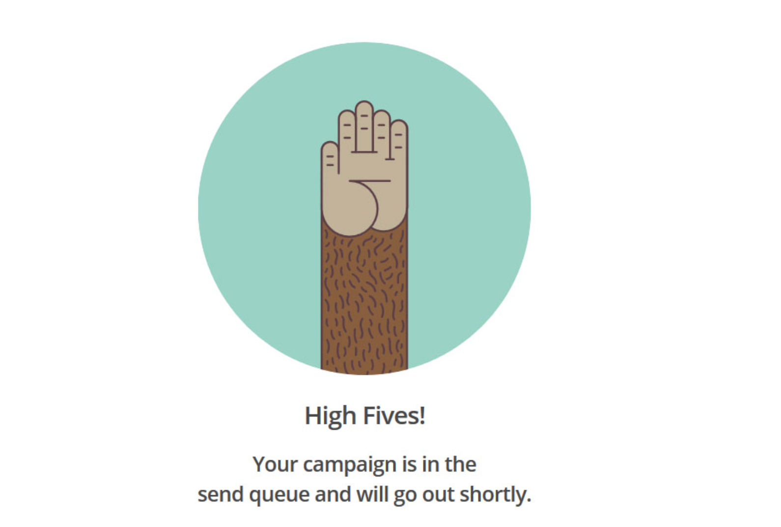 MailChimp UX Writing Example